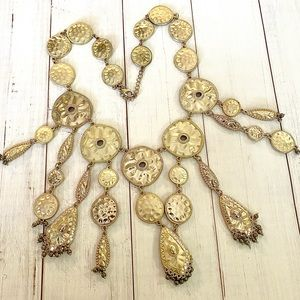 Beautiful Gold Statement Necklace